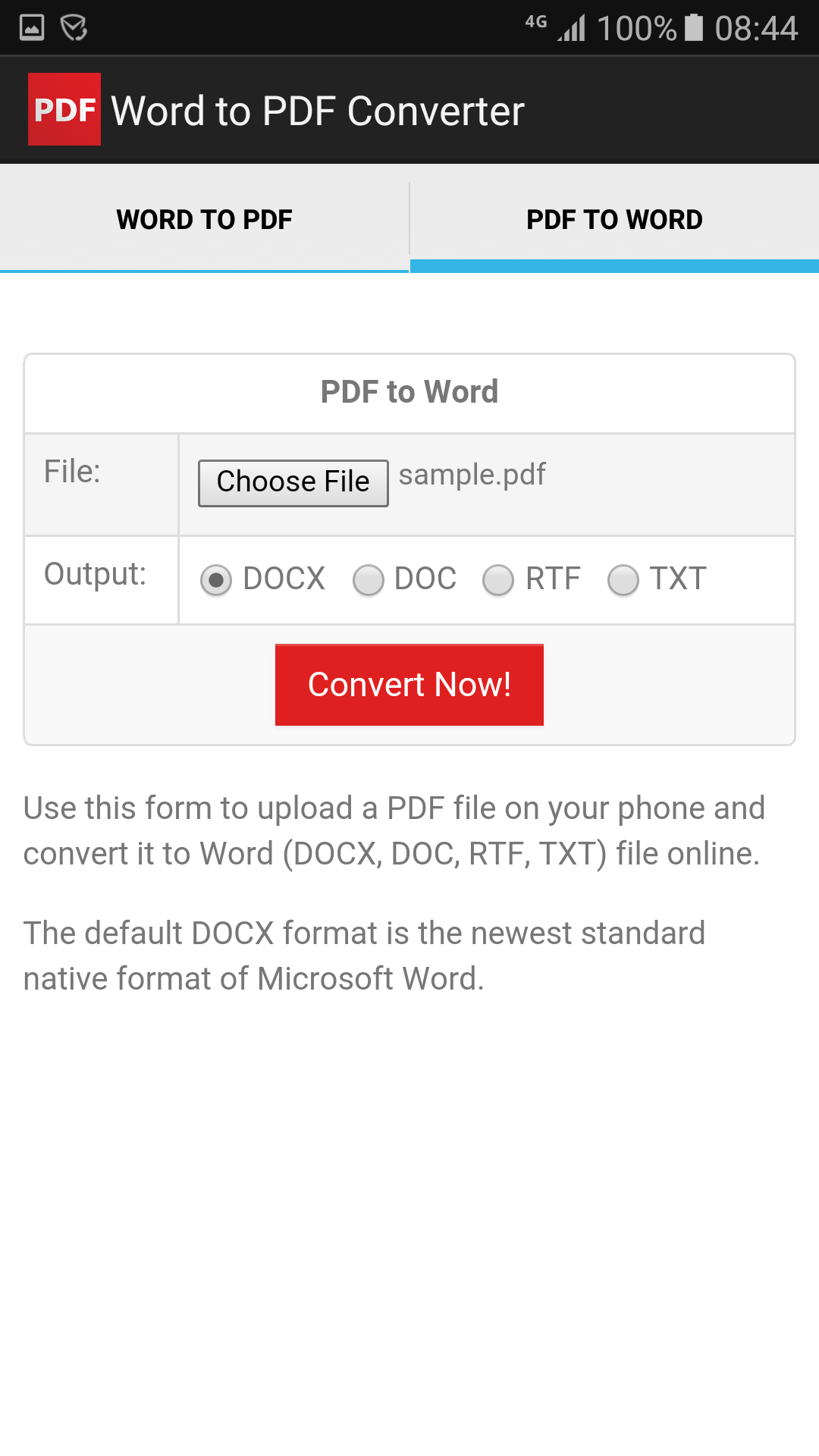 Word to pdf converter for android download screenshots falaconquin